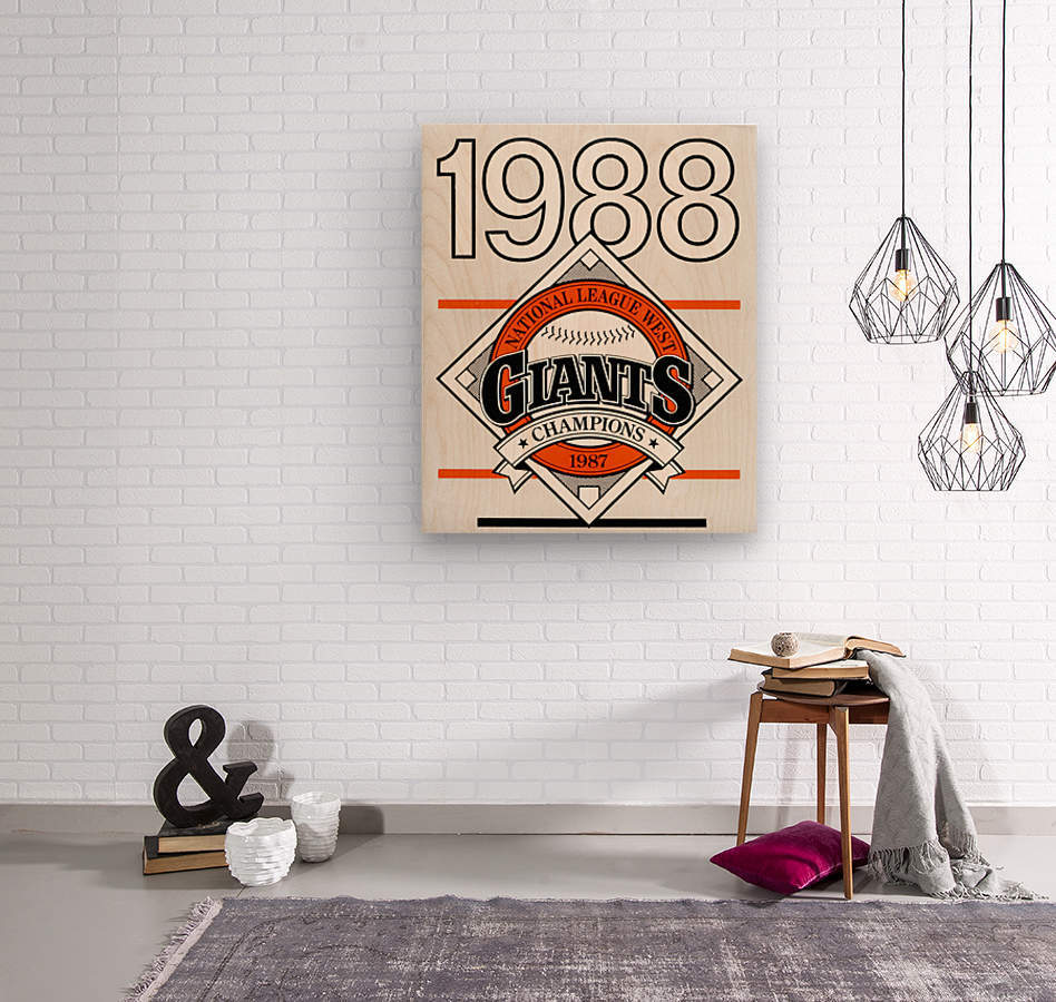 San Francisco Giants 1988  Wood print