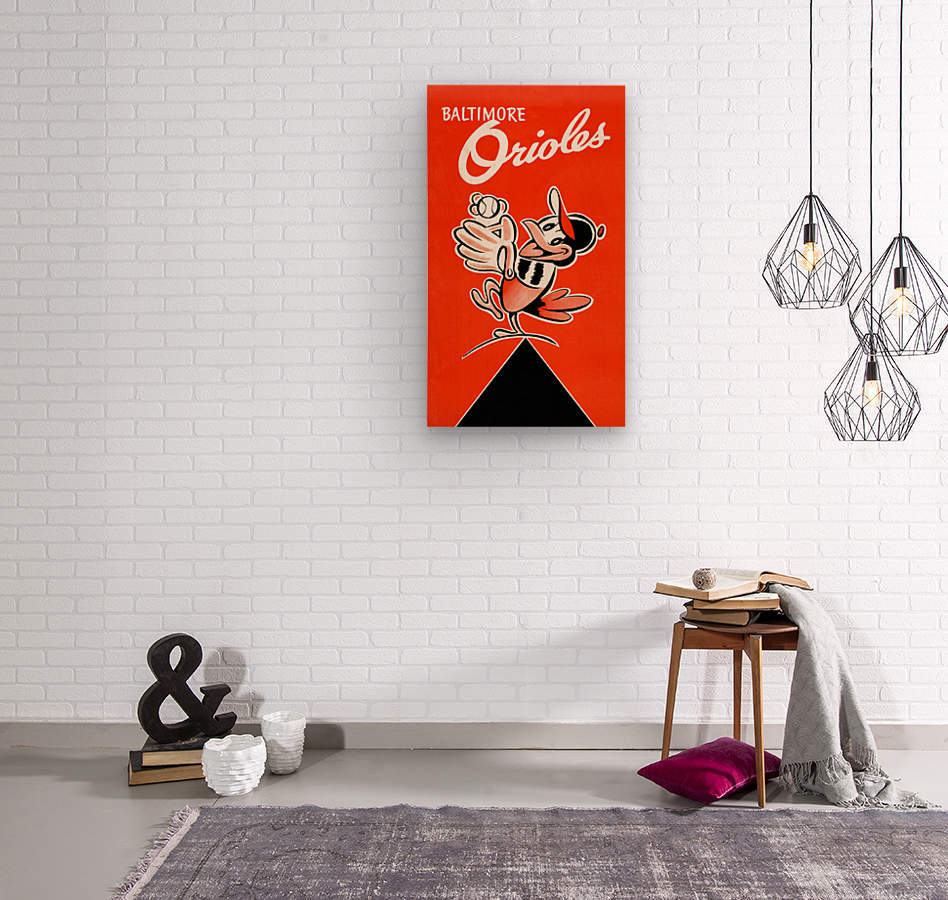 Baltimore Orioles Row One  Wood print