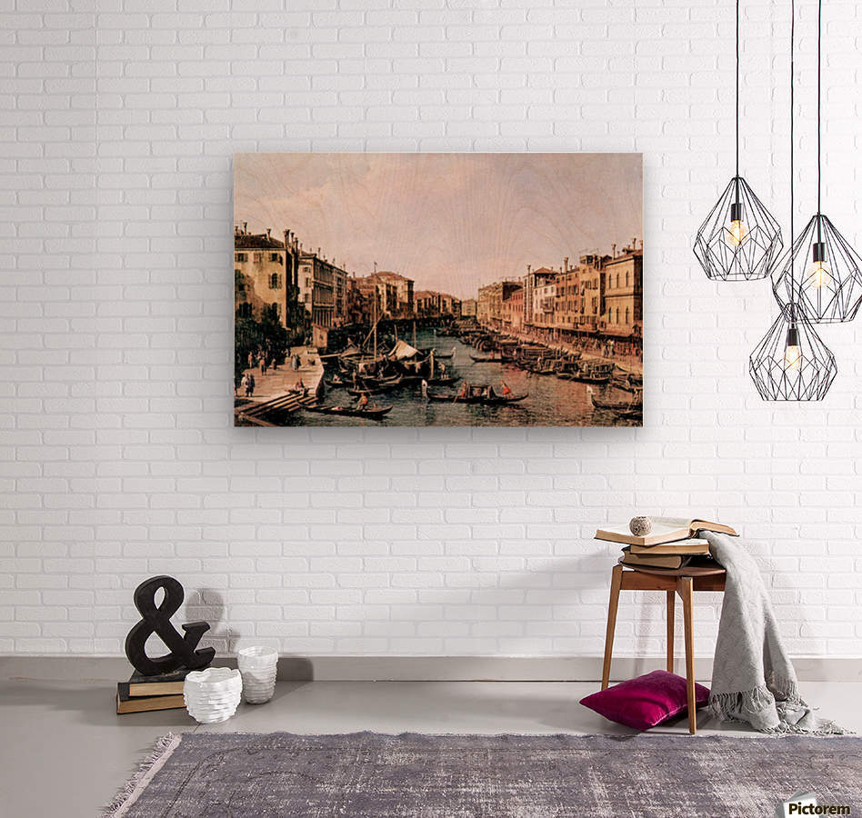 Grand Canal -2- by Canaletto  Wood print