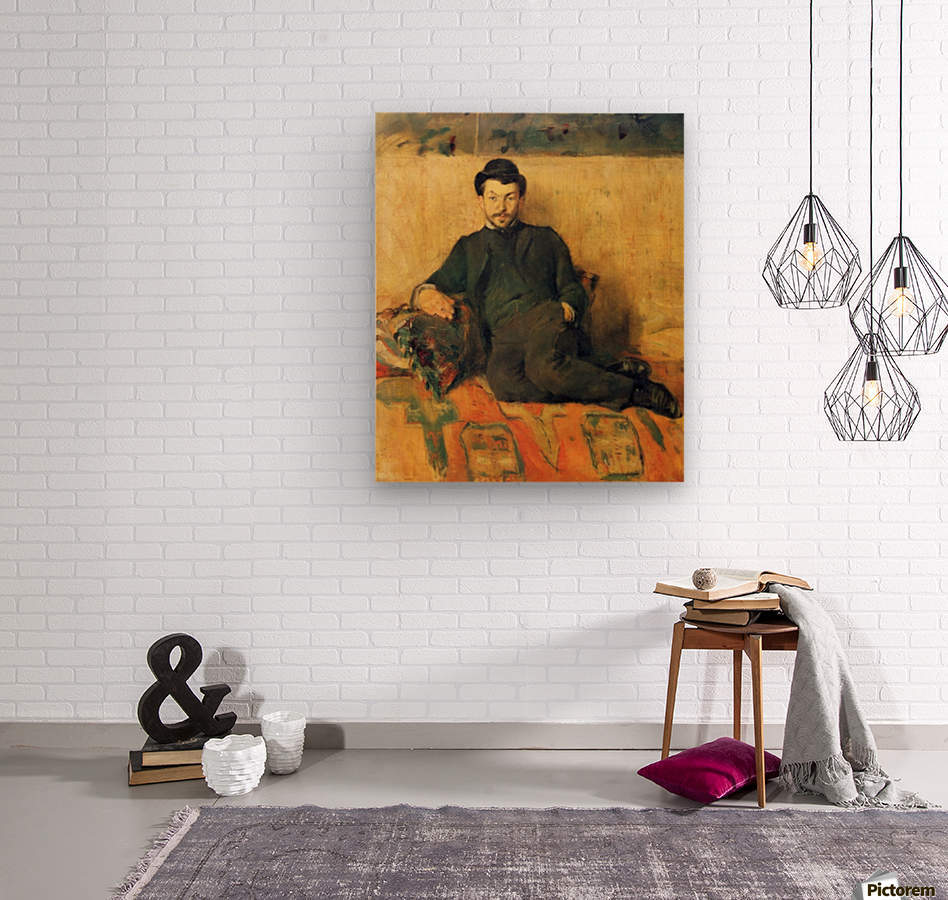 Gustave Lucien Dennery by Toulouse-Lautrec  Wood print