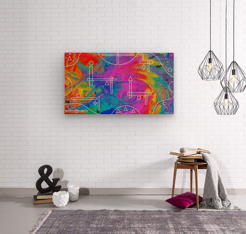 The Colors of The Wind  Wood print