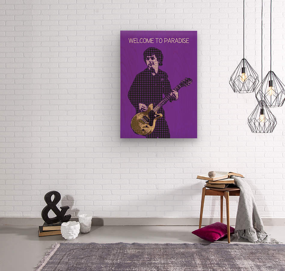 welcome to paradise   Billie Joe Armstrong  Wood print
