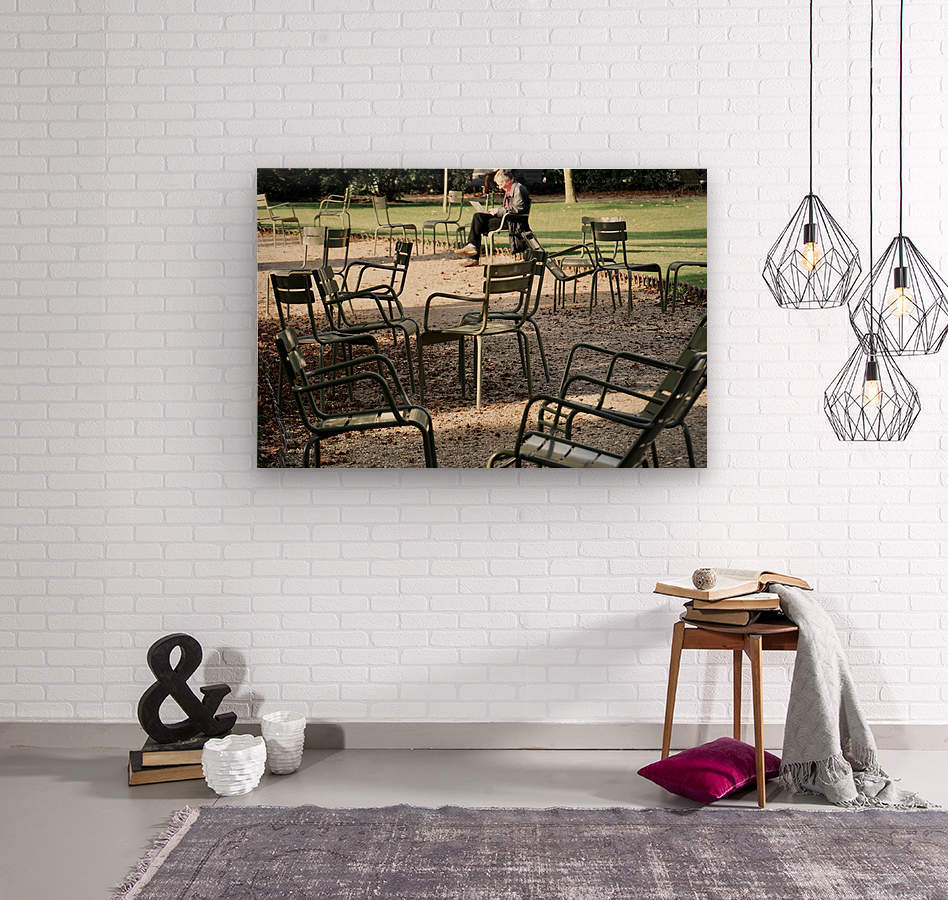 Chaises du Luxembourg   2  Wood print