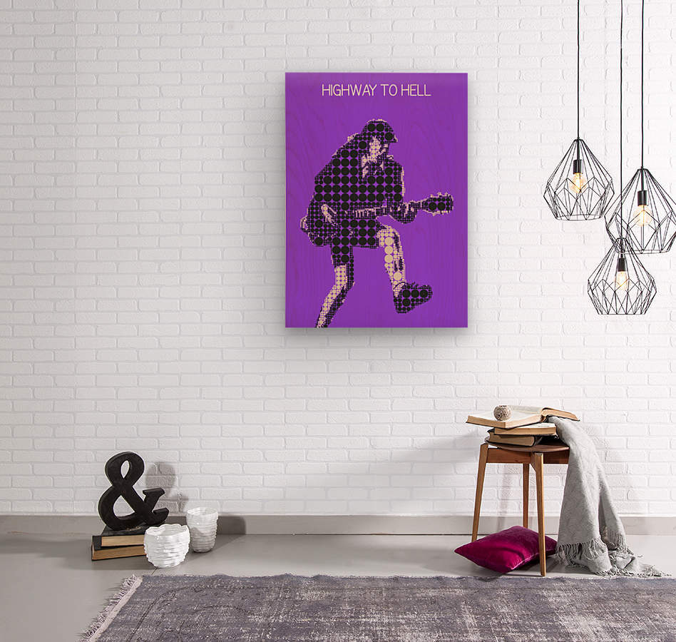 Highway to Hell   Angus Young  Wood print