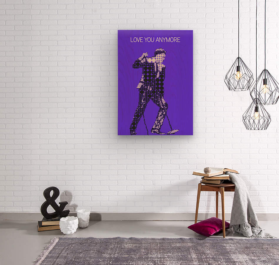 Love You Anymore   Michael Buble  Wood print