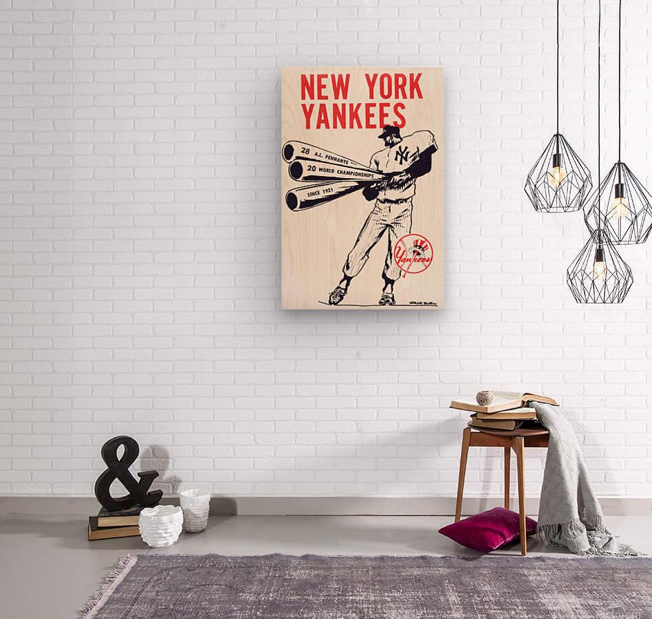 Artist Willard Mullin New York Yankees Art Poster  Wood print
