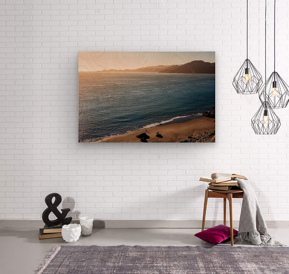 Marshall Beach Sunsets  Wood print