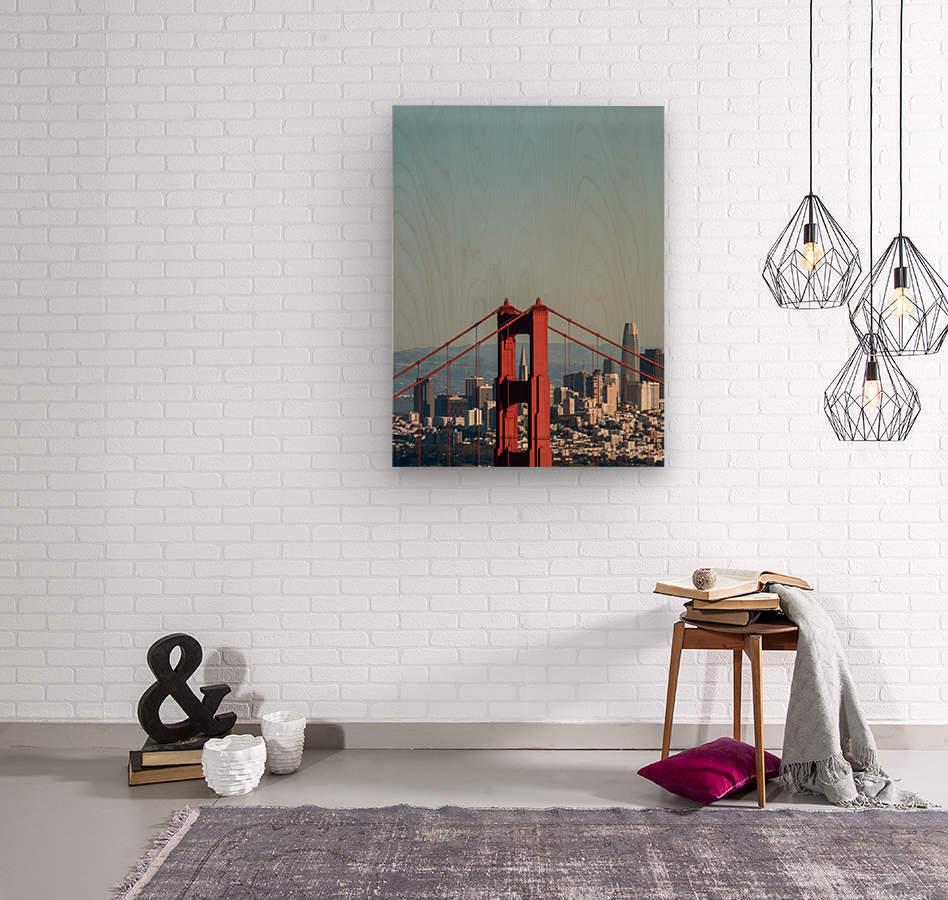 Threading the Needle - Golden Gate Bridge  Wood print