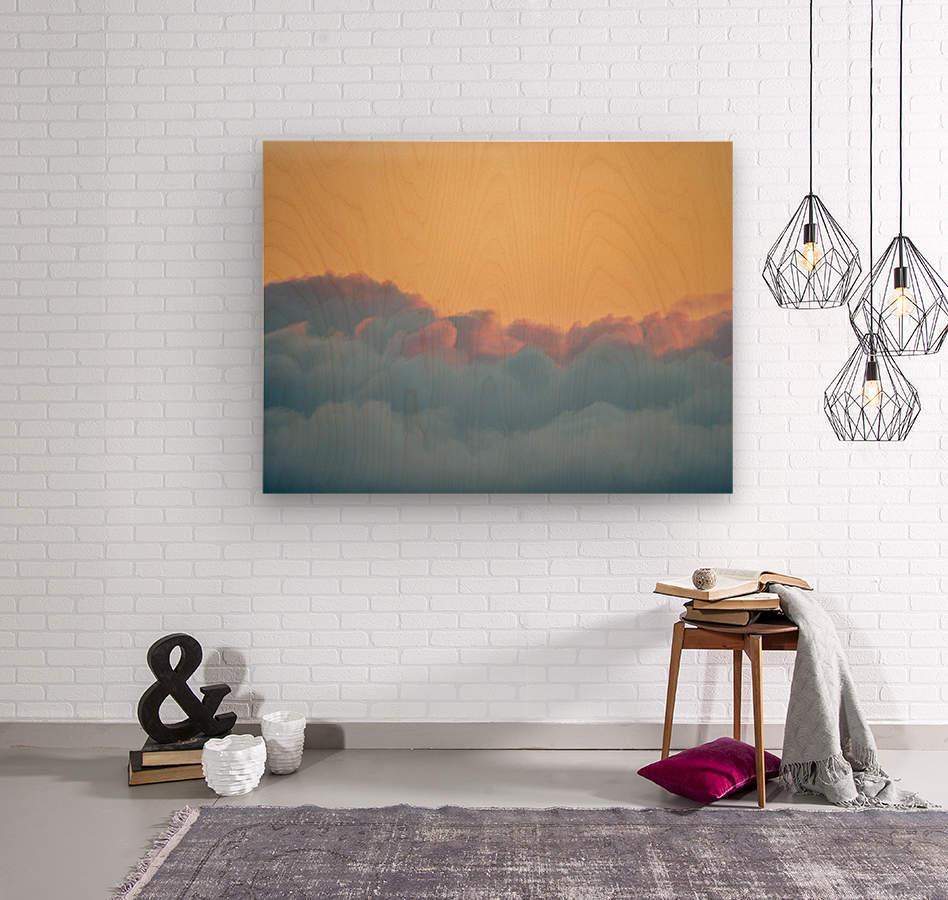 Clouds at Sunset  Impression sur bois