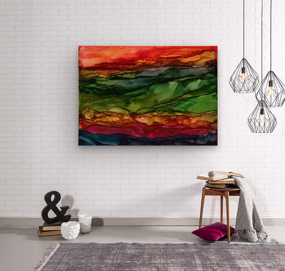 Kaleidoscope Canyon  Wood print