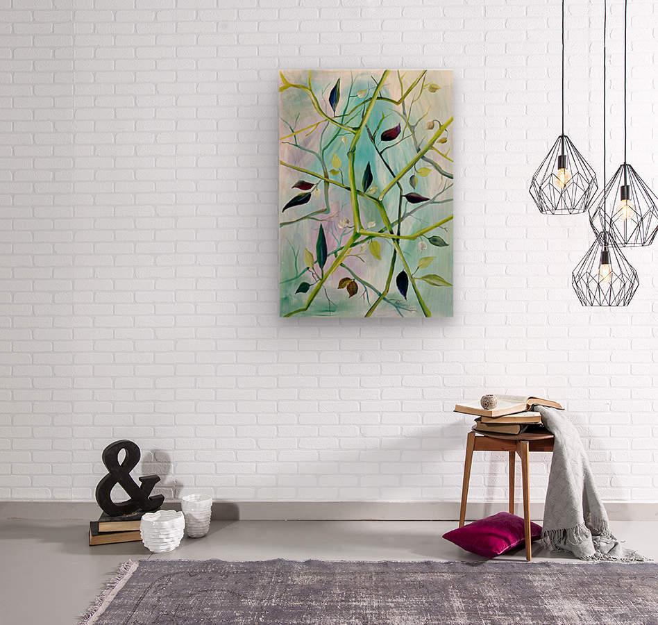 Realm of Greenery Foliage  Wood print