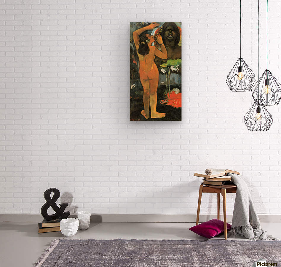 Hina Tefatau by Gauguin  Wood print