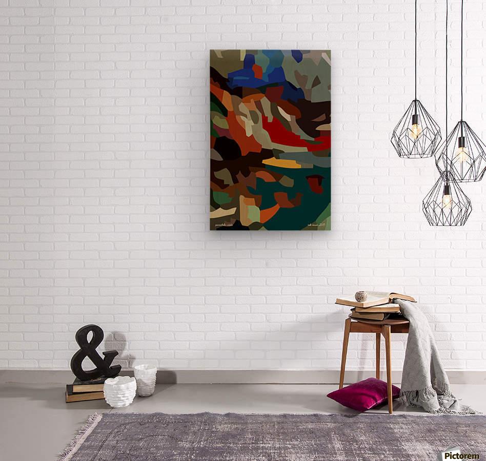 paradolic vista  Wood print