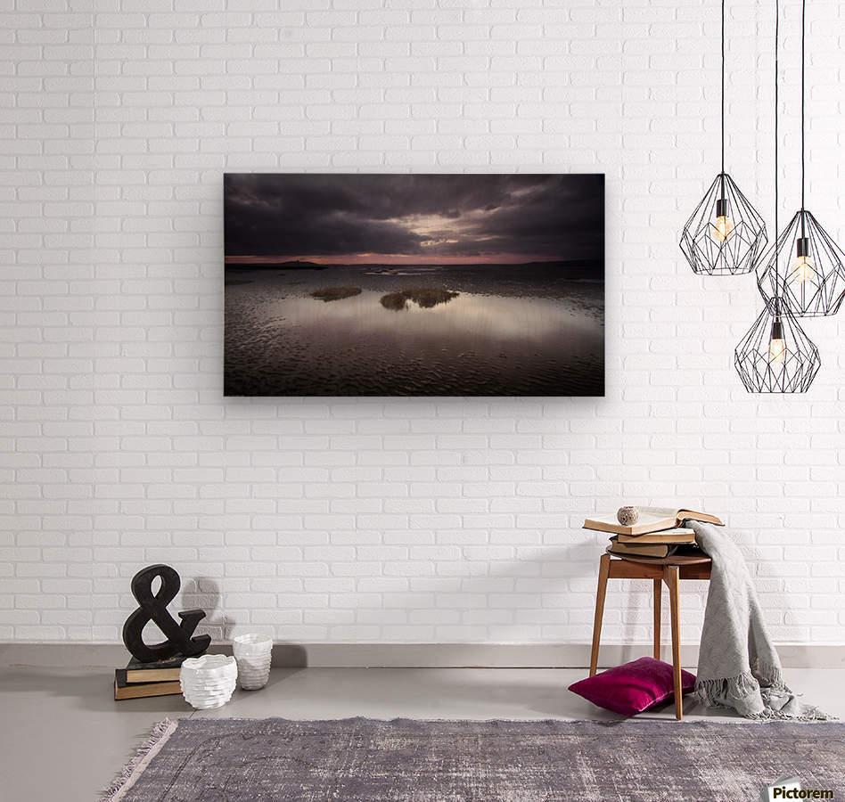 Machynys sunset  Wood print