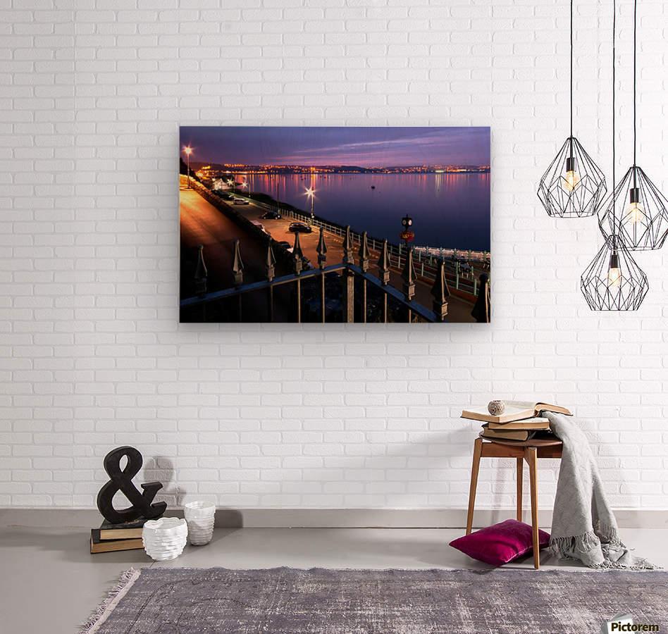 Swansea Bay at night  Wood print