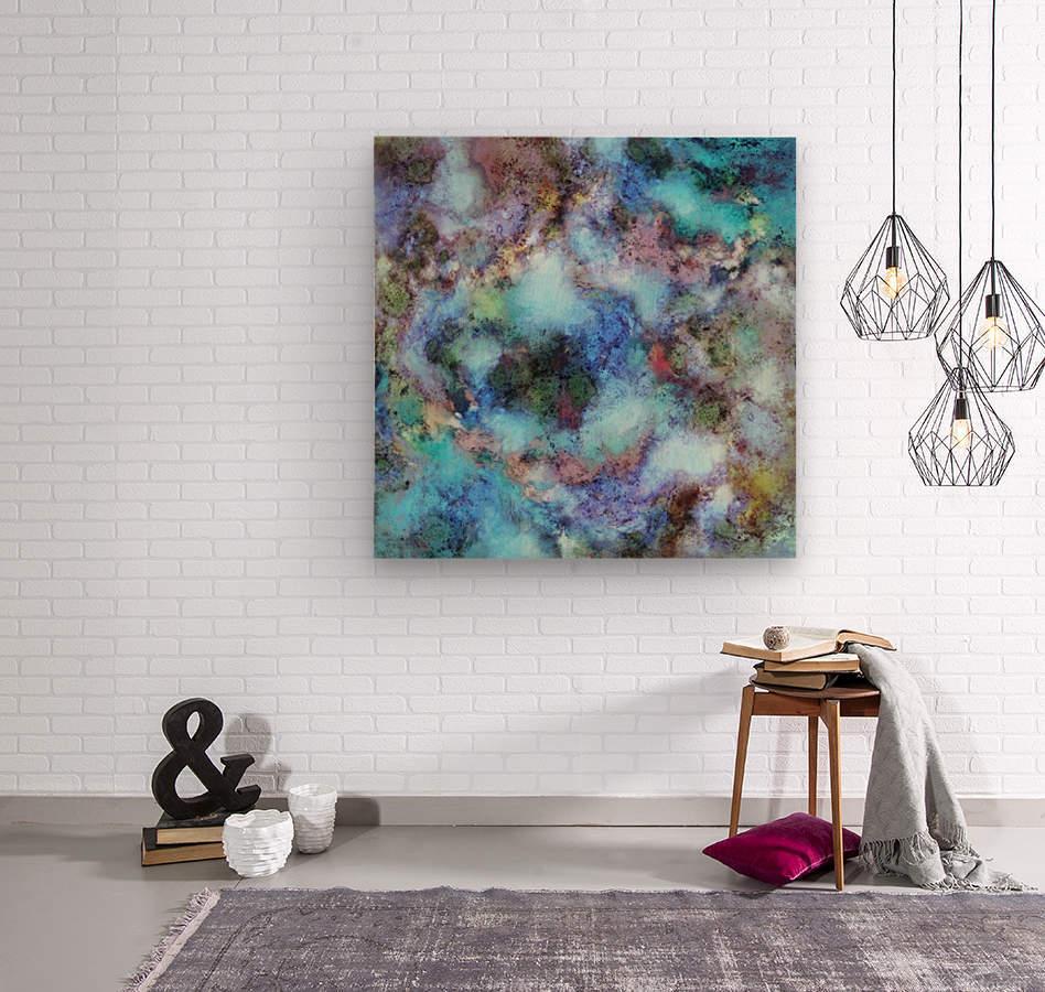 Tangled air  Wood print