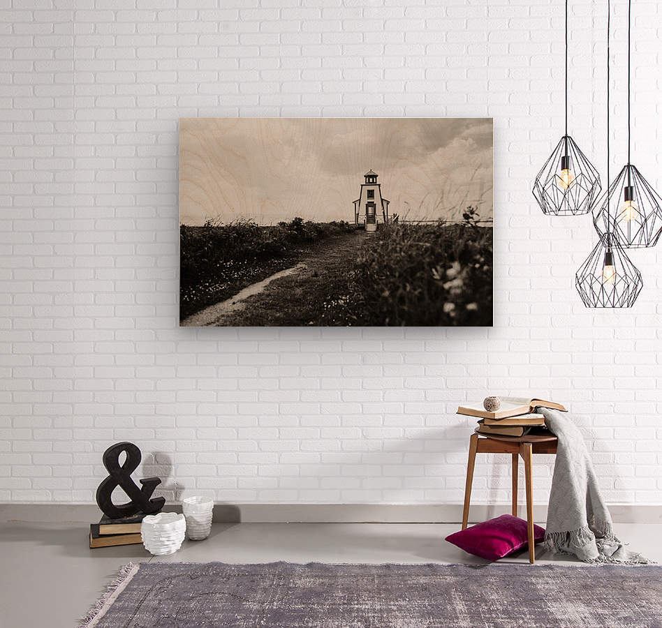 Phare de Saint-Andre Kamouraska  Impression sur bois