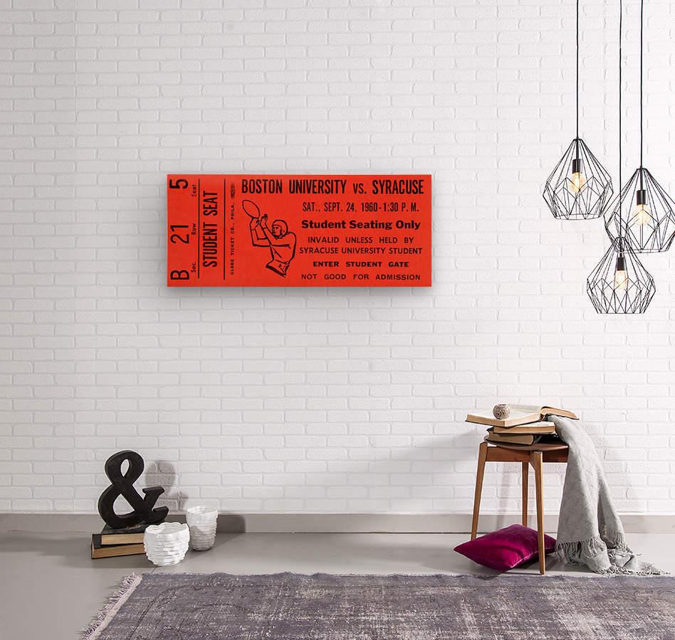 syracuse football ticket stub wall art  Wood print