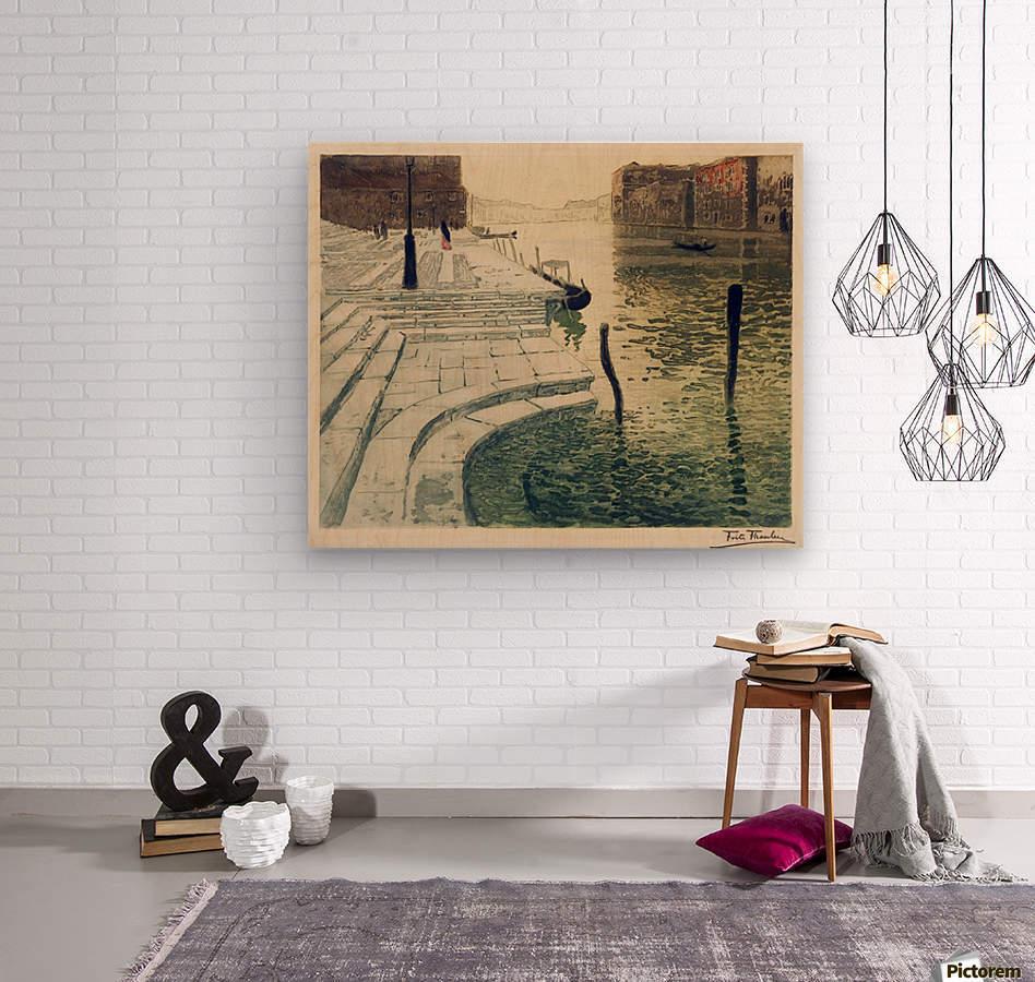 Marmortrappen  Wood print