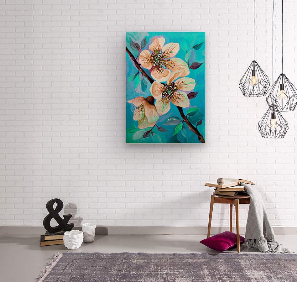 Japanese Sakura Cherry Blossom   Wood print