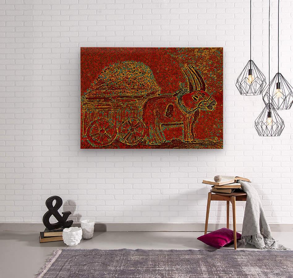 Oxen  Wood print