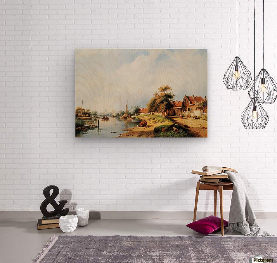 Summer river landscape  Wood print