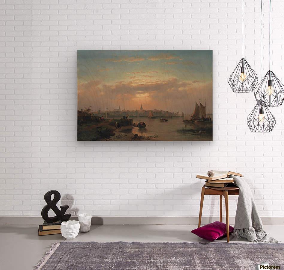 Evening on the Scheldt, Holland  Wood print