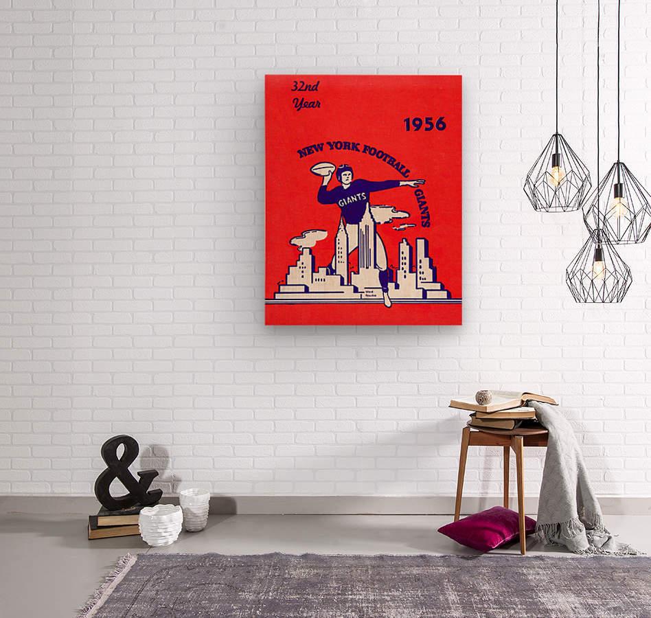 1956 new york giants vintage nfl poster  Wood print