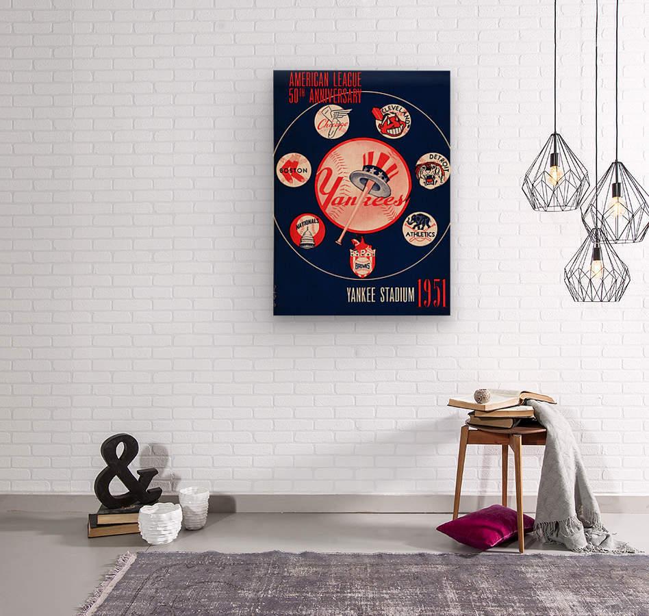 1951 new york yankees logo lon keller art  Wood print