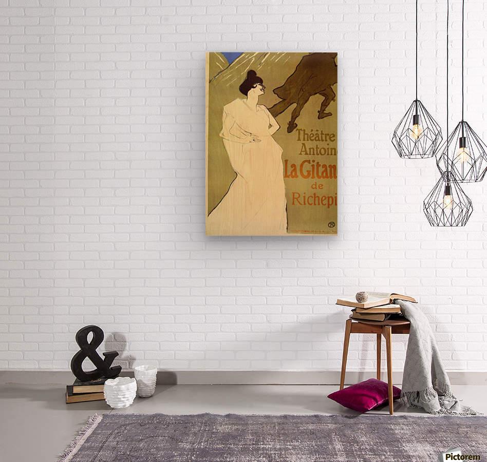 La Gitane de Rechepin by Toulouse-Lautrec  Wood print