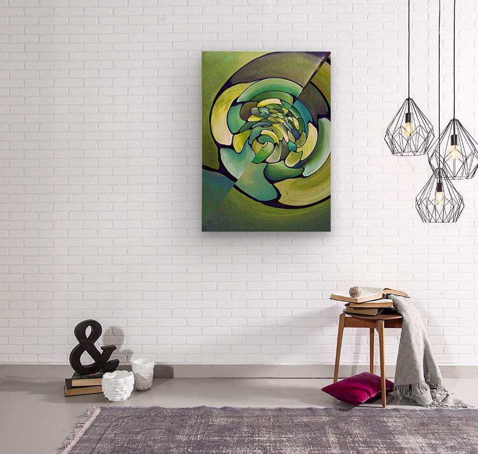 Art Deco_Green _Pattern_A  Wood print