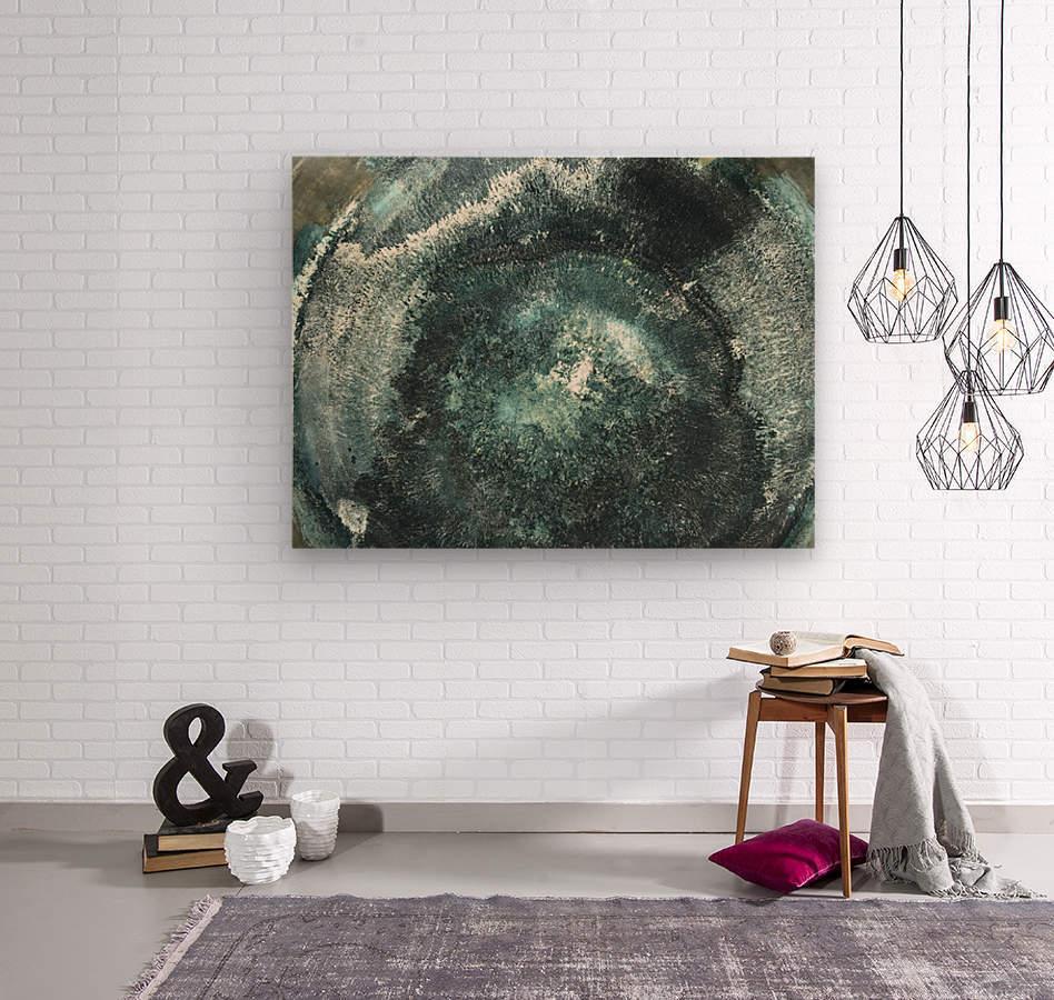 Crystal Midnights in Indigo  Wood print