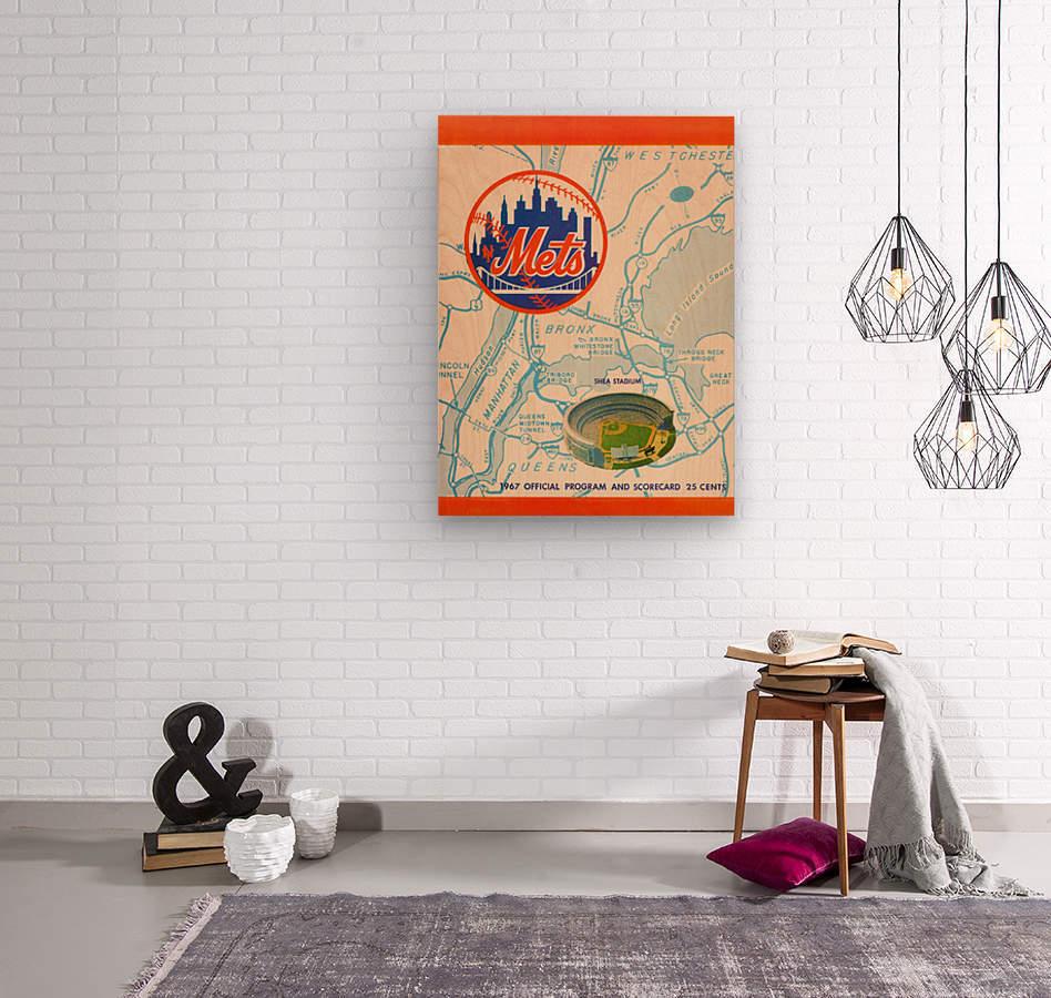 1967 new york mets vintage baseball scorecard poster wall art  Wood print