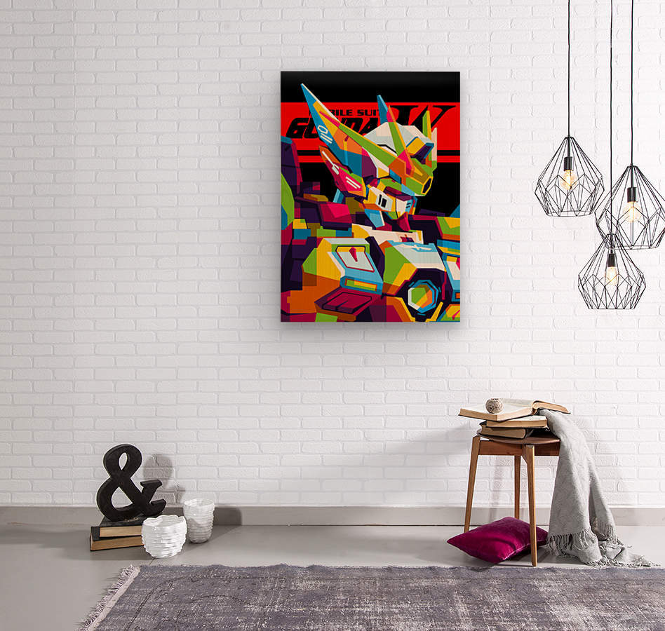 Wings Gundam Zero Pop Art  Wood print