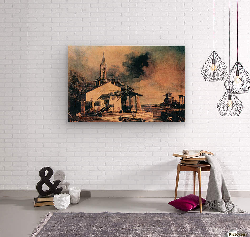 Lagoon landscape by Canaletto  Wood print