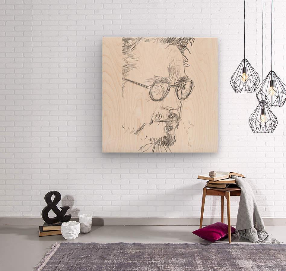 Robert Downy Jr. - Celebrity Pencil Art  Impression sur bois