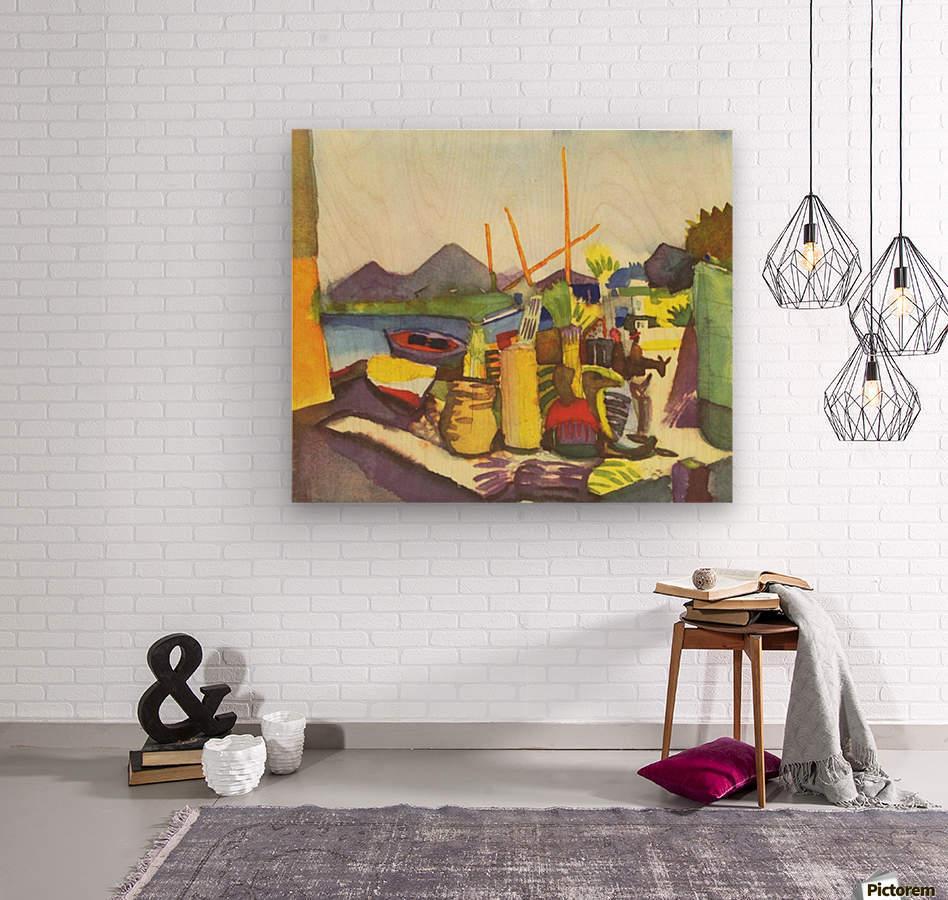 Landscape at Hammamet by Macke  Wood print
