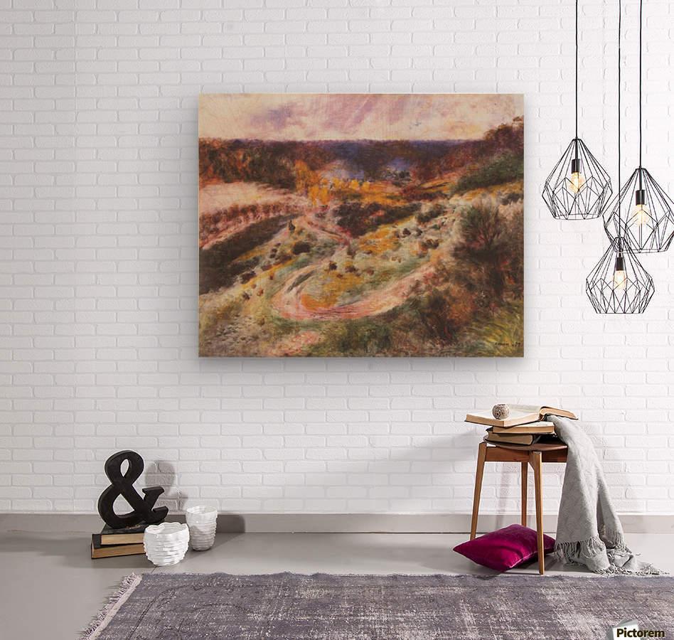 Landscape in Wargemont by Renoir  Wood print