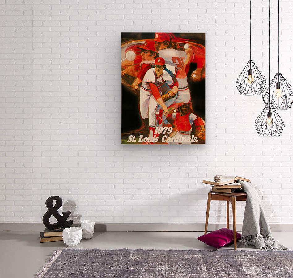 1979 st louis cardinals retro baseball poster  Wood print