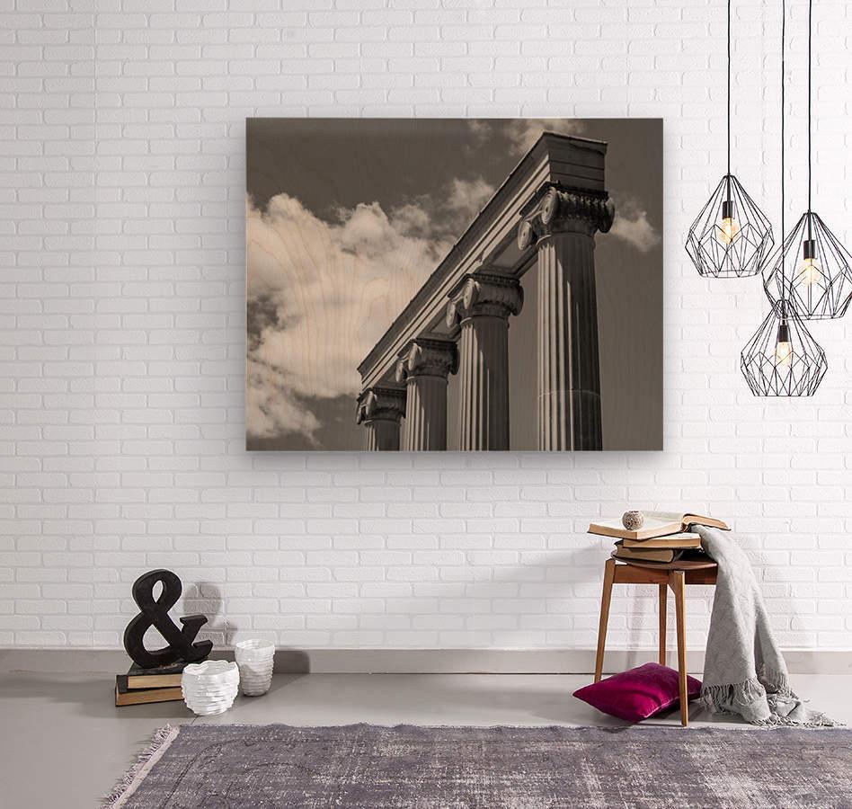 KIng West Columns  Wood print