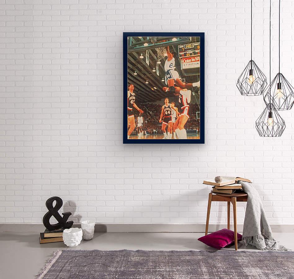 1984 johnny dawkins duke basketball dunk poster (1)  Wood print