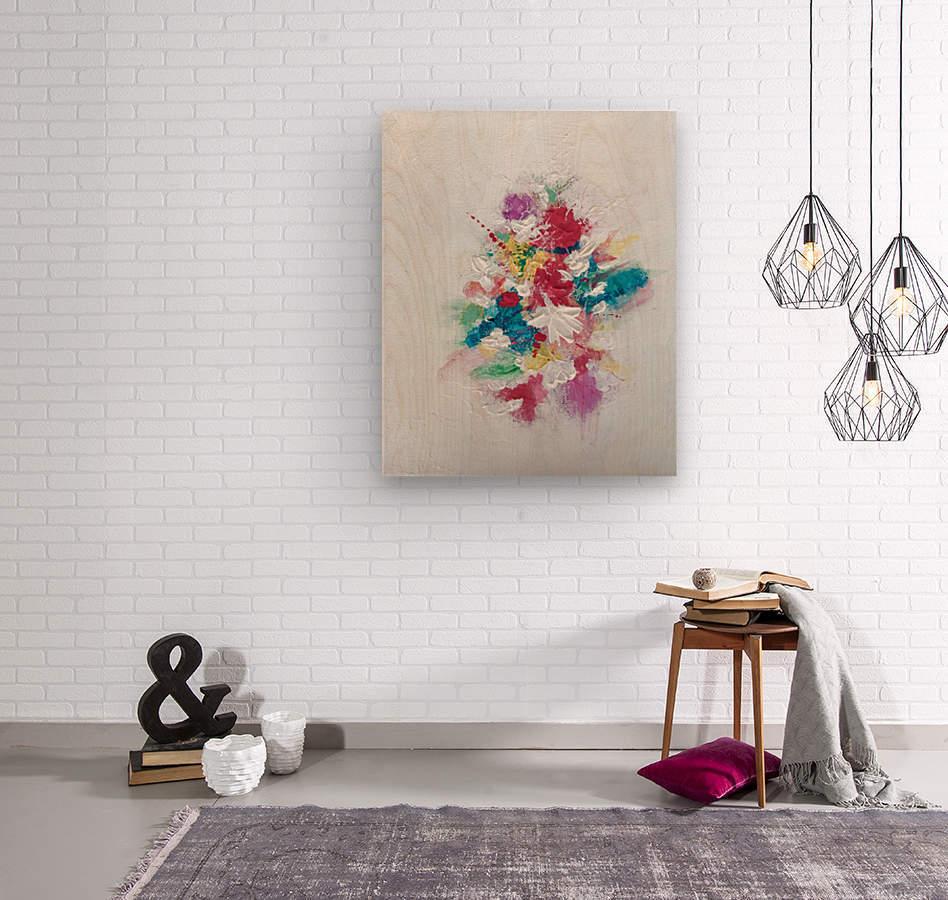 Flower bouquet  Impression sur bois
