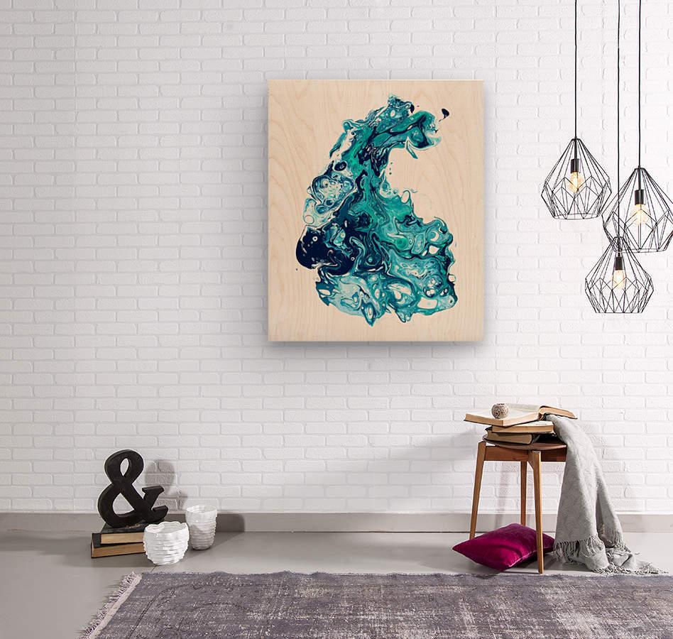 Surf Wave  Wood print