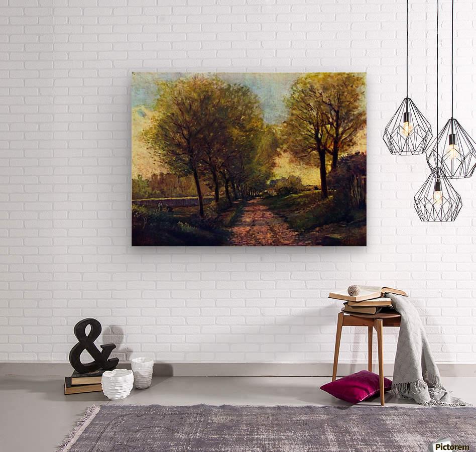 Lane near a small Town by Sisley  Wood print