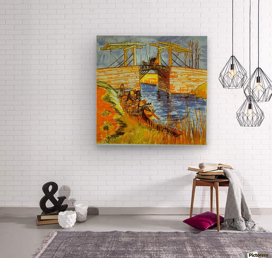 Langlois by Van Gogh  Wood print