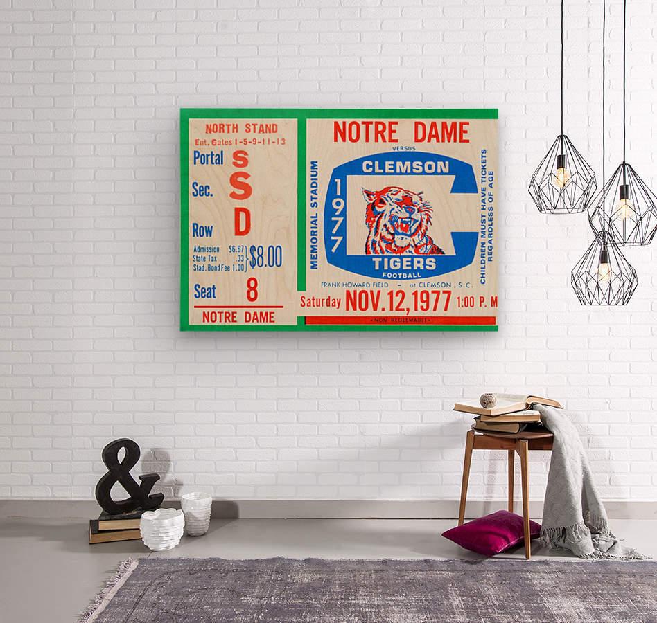 1977 Notre Dame vs. Clemson  Wood print