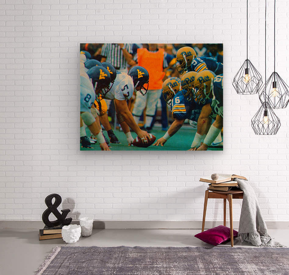1981 College Football Photo West Virginia Pitt Panthers Wall Art  Wood print