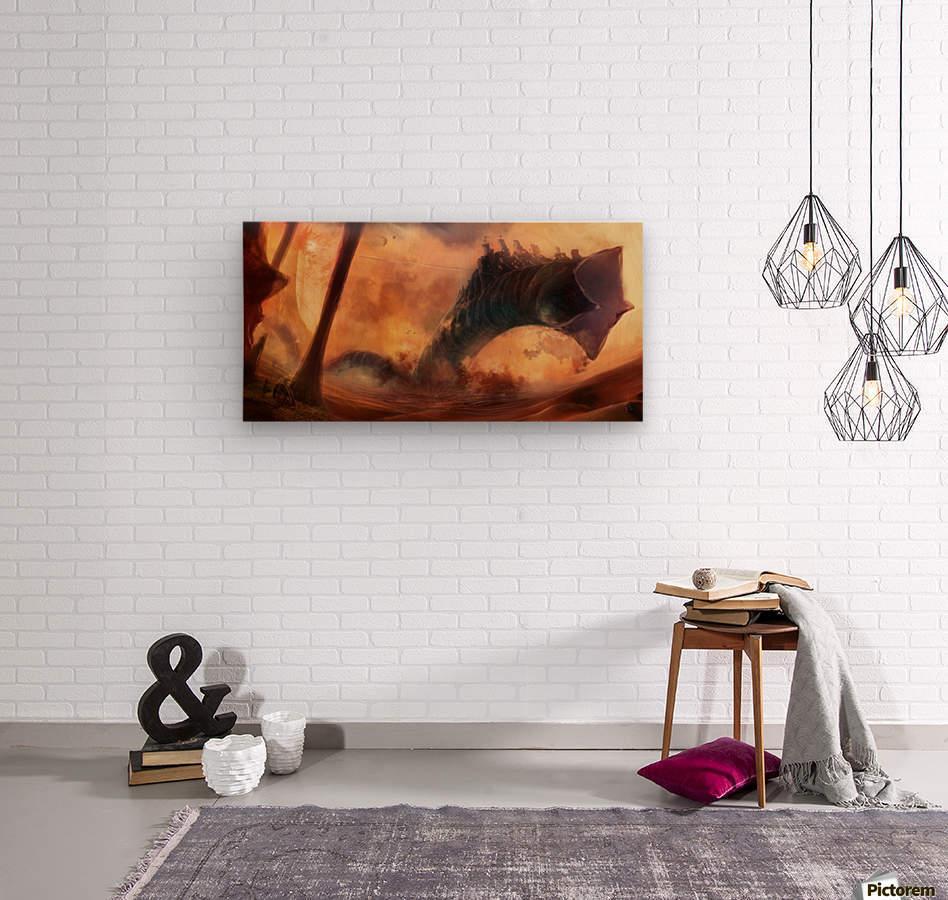 Dune World  Wood print