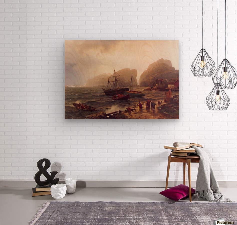 Nodhavn Ved Norskekysten  Wood print