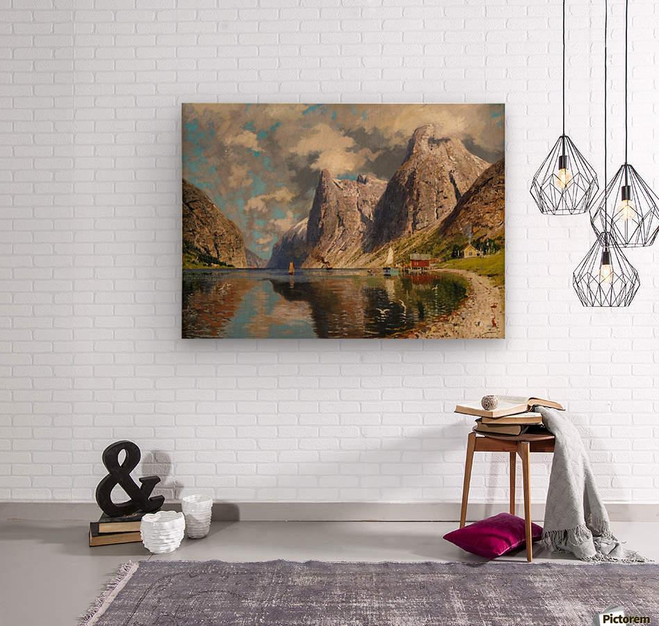 Sommer im Fjord  Wood print